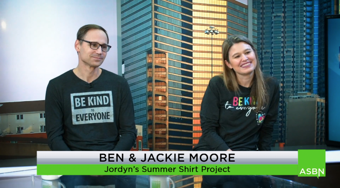 Ben and Jackie Moore, along with their daughter Jordyn, who has autism, are breaking down barriers with their small business, Jordyn's Summer Shirt Project